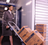 Moving Boxes into Storage Image
