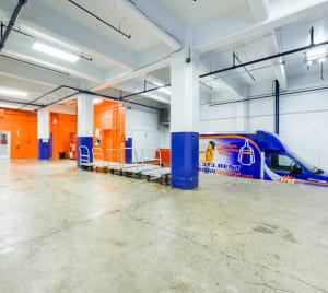 Large, indoor loading dock for your convenience