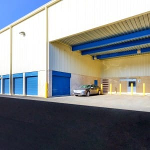 Large, covered loading dock for your convenience