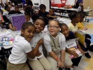 Urban Academy receives homework kits from Guardian Storage