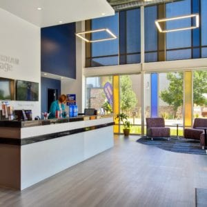 Modern office design with dedicated management team