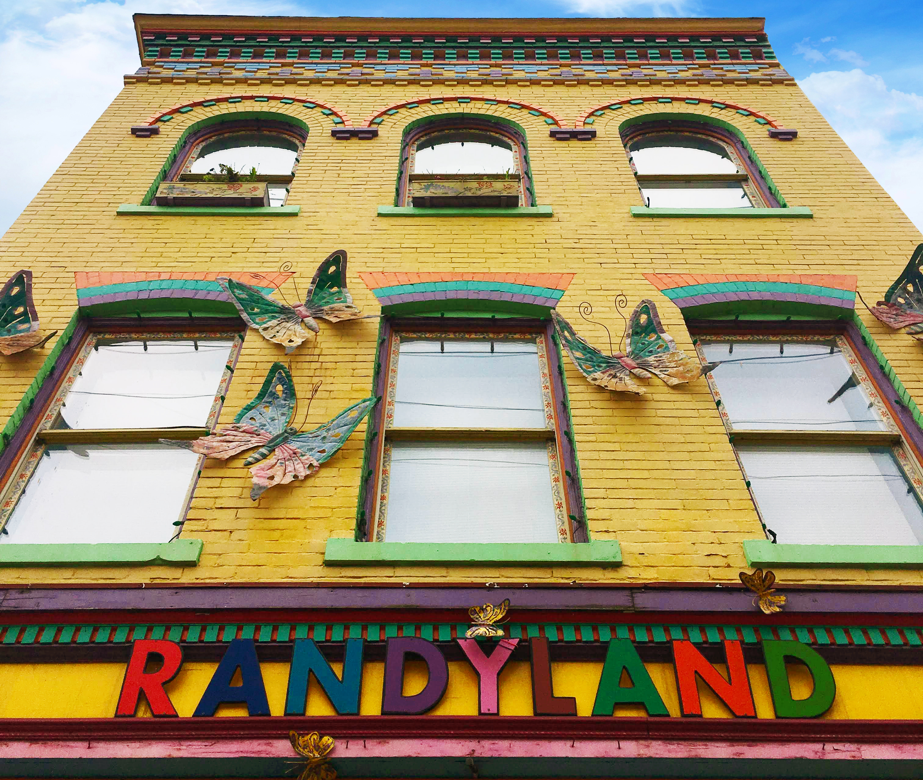 Randy Gilson, the artist who owns and maintains Randyland in Pittsburgh, PA, opens his oasis to the public every day of the week, 10am-7pm, for free.