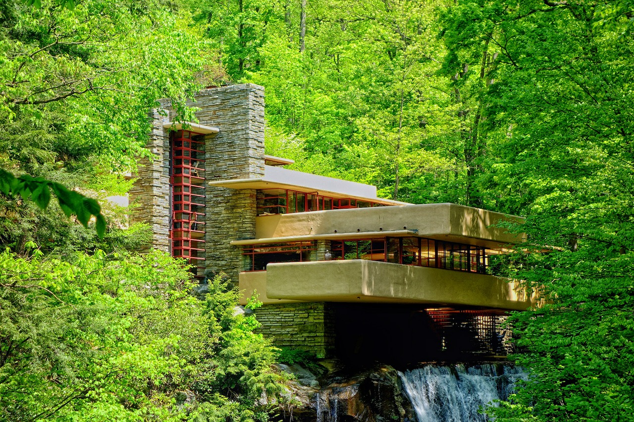 In Pittsburgh this summer take a tour of Falling Water, the famous home designed by architect Frank Lloyd Wright.