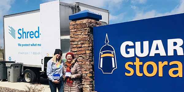 Guardian Storage holds their annual Shred-It event!