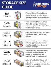 Storage Size Guide