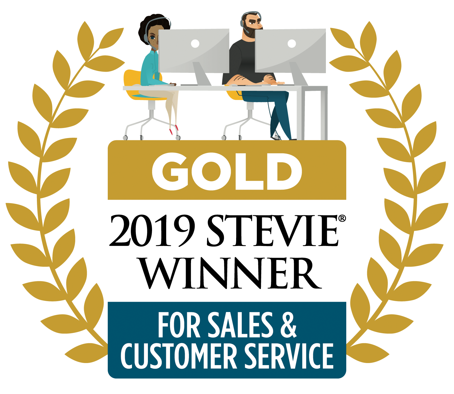Gold 2019 Stevie Winner For Sales & Customer Service