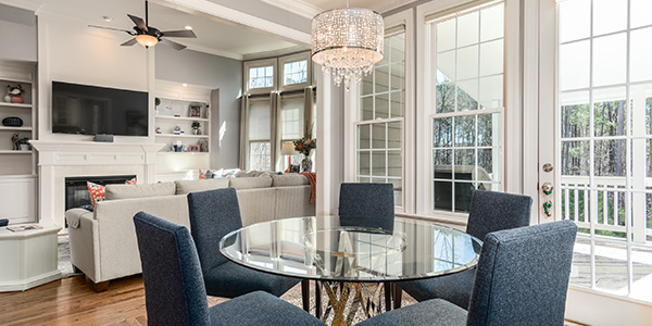 Replace Doors If you have the ability, replace all doors in the space with glass doors. Exterior glass doors will automatically let more natural light into the space. Switching interior doors to glass doors will make the room feel more spacious and gives the opportunity for light from other rooms to carry into this one. If you are worried about privacy, you can always apply a privacy film to the door to still allow light to come through.